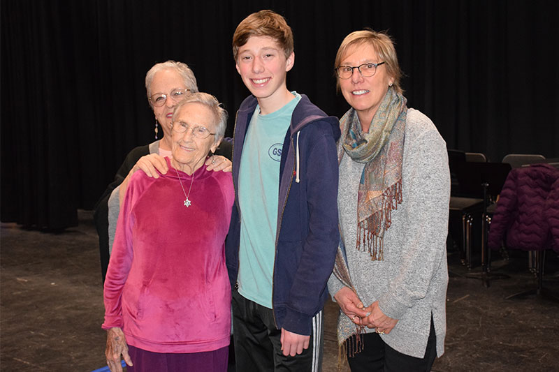Holocaust survivor inspires students with message of tolerance and forgiveness